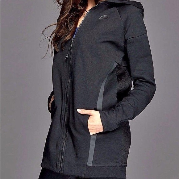 NIKE TECH FLEECE Mesh Cocoon Women's Active Jacket Fleece